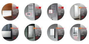 Električni električni kupaonski električni kupaonski radijatori Vigo - Radialight